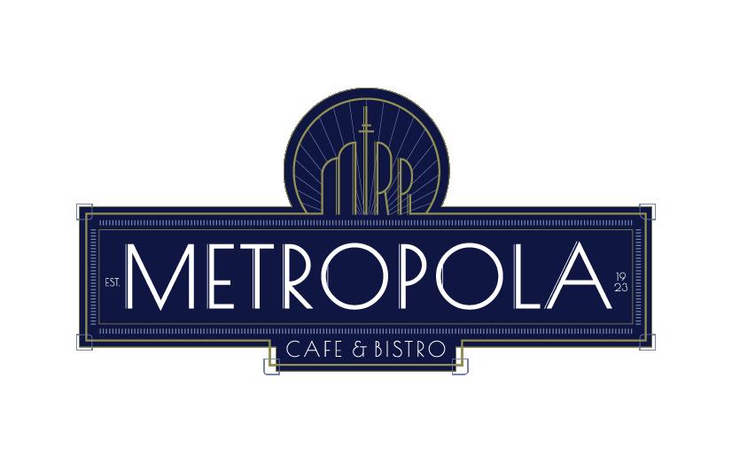 Logo Metropola Cafe modre